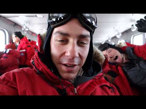 Flying from Christchurch to the South Pole Station, Antarctica