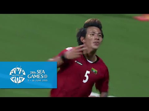 Football Myanmar vs Indonesia 1st Half Highlights 2 Jun  | 28th SEA Games Singapore 2015