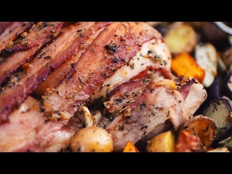 recette-maillard-|-poulet-en-crapaudine-avec-bacon-à-l'érable-et-beurre-aux-fines-herbes