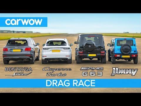 Bentayga Speed Drag Races AMG G63, Cayenne Turbo And… Jimny