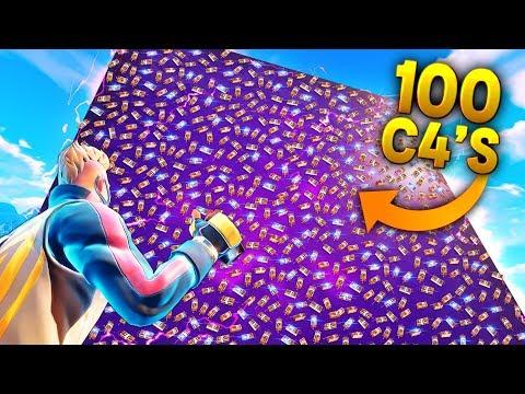 100 C4'S vs CUBE!!!| Fortnite Funny and Best Moments Ep (Fortnite Battle Royale)