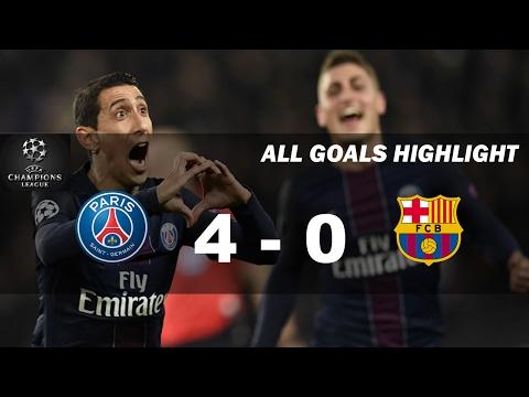 PSG vs Barcelona 4 - 0 All Goals Highlight