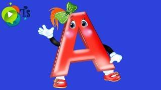 Занимательная азбука  Учим Алфавит - Буква А