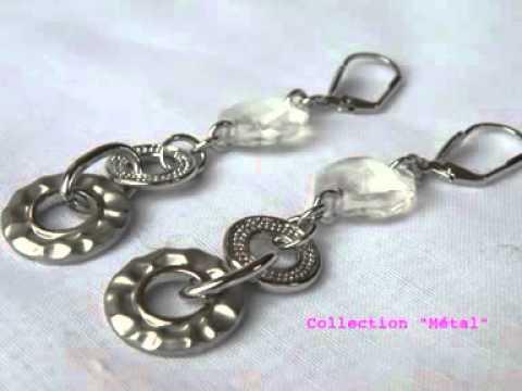BOUCLE D'OREILLE, bijoux fantaisie et accessoires de mode tendance et glamour