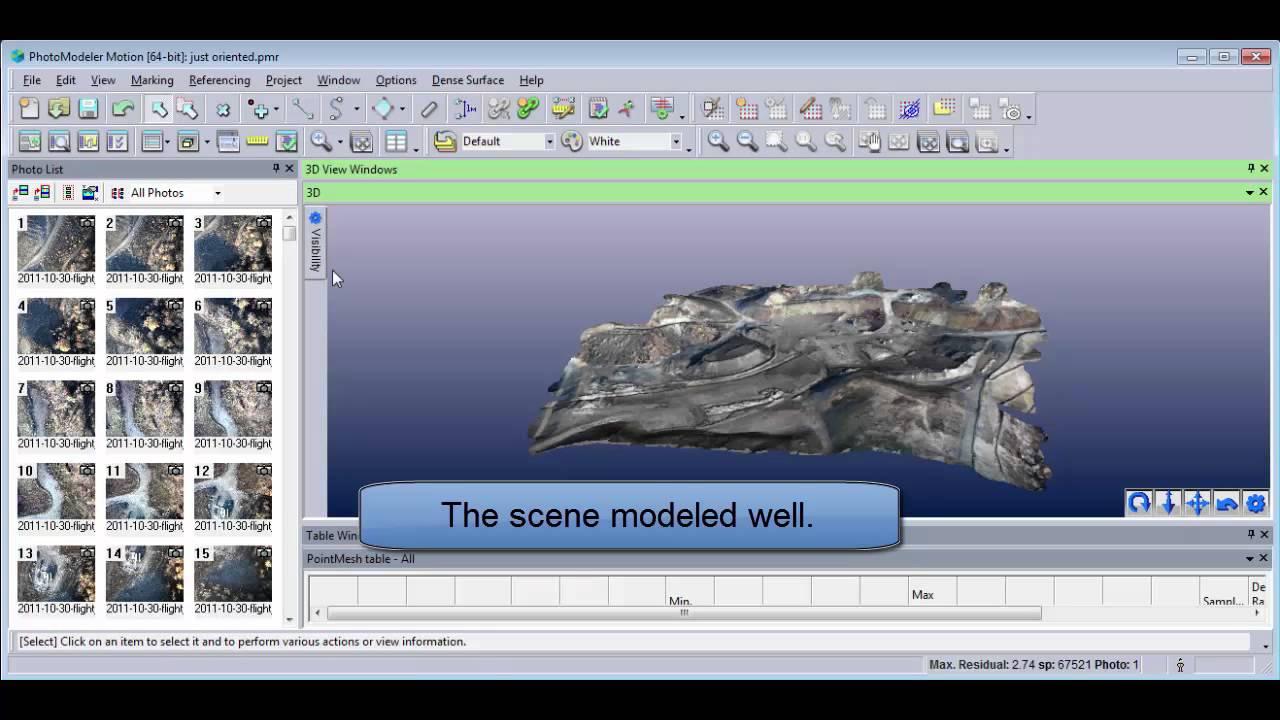 UAS & UAV Photography for 3D Scanning | PhotoModeler