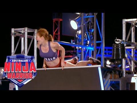 Ninja run: Olivia Vivian (Grand Final - Stage 1)   Australian Ninja Warrior 2018