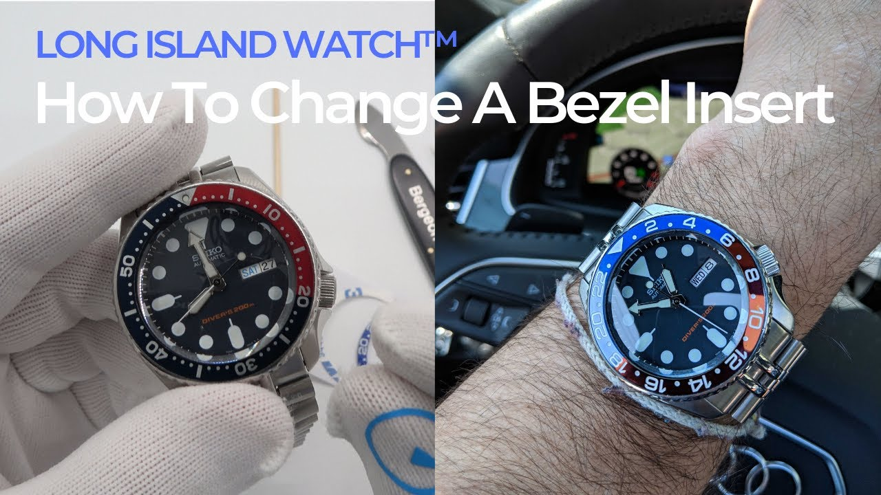 How to Change or Upgrade to a Ceramic Bezel Insert on your Diver - Watch  and Learn #65