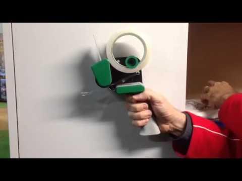 How To Load Noise Reduction Tape Gun Low Noise Pistolgrip Tape Dispenser