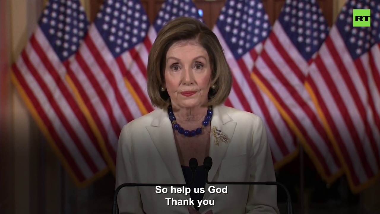 Pelosi says Trump to be impeached, Trump says 'do it fast, but I'll win'