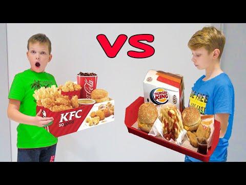KFC Vs BURGER KING. ТАКОГО РЕЗУЛЬТАТА НЕ ОЖИДАЛИ. БРОС ШОУ