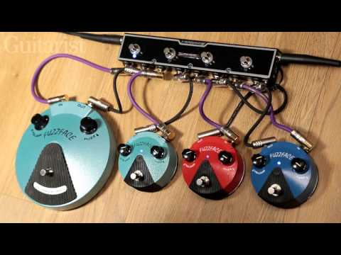 Dunlop Fuzz Face Mini FFM1 Silicon, FFM2 Germanium & FFM3 Jimi Hendrix pedal demo