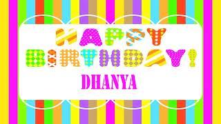 Dhanya Wishes & Mensajes - Happy Birthday