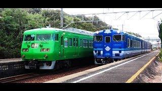 JR117系電車 米子地区で試運転 (13-Oct-2019)
