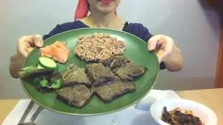 Asmr Eating Sounds :  La갈비 먹기 (galbi, Rice, Vegetables) Grilled Marinated Short Ribs