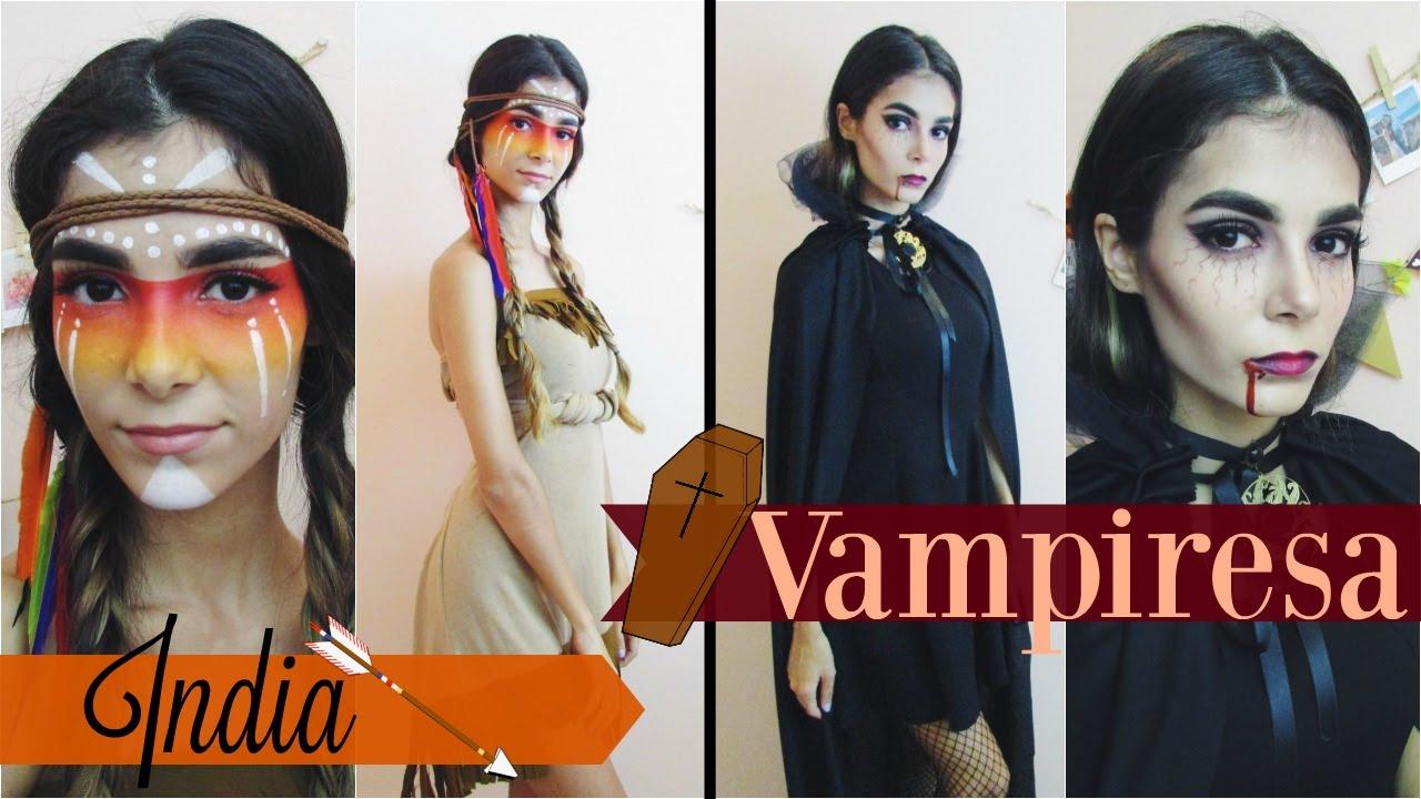 Disfraz Para Halloween India Y Vampiresa Parte 2 Celheliz Youtube - Disfraz-india-americana