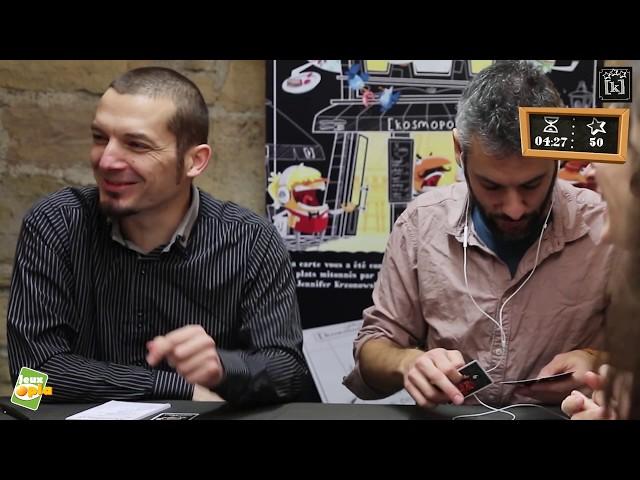 Une partie expliquée du  jeu [kosmopoli:t] par ses auteurs Florent Toscano et Julien Prothière.