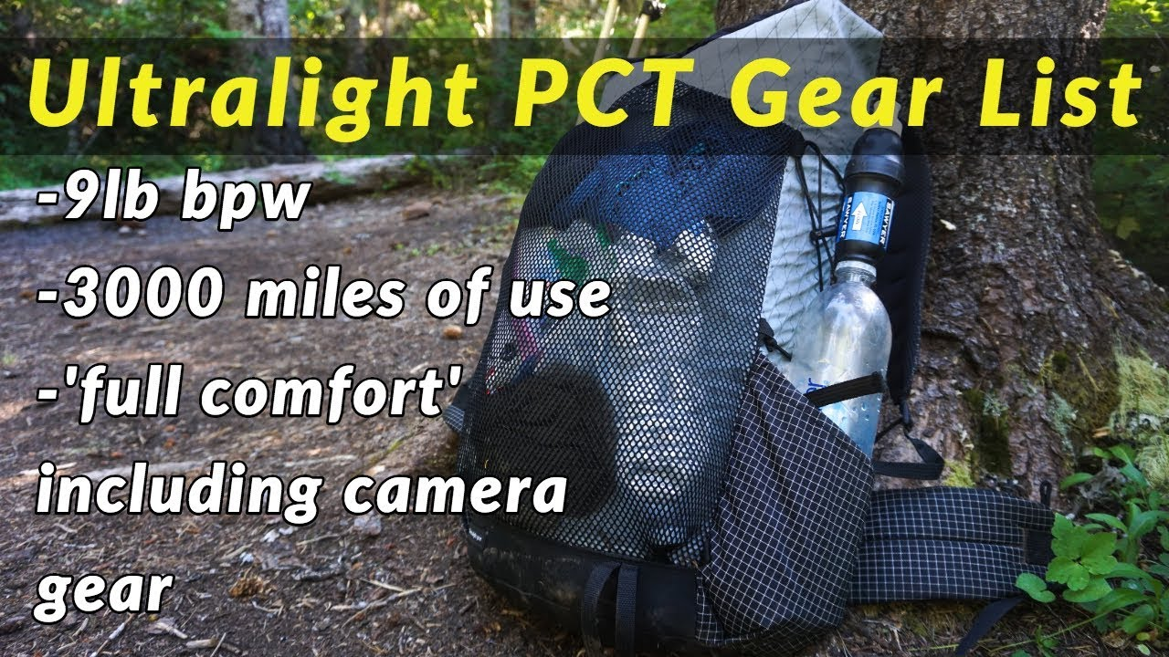 hot sale online 15c01 c1454 Ultralight PCT Gear List - used 3000 miles