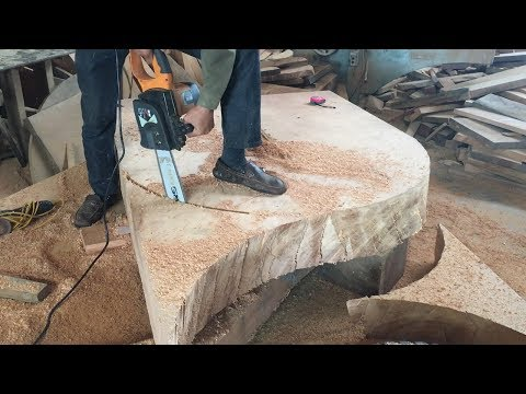 woodworking-projects-you-must-see-//-how-to-make-extremely-large-round-table-with-hardwood