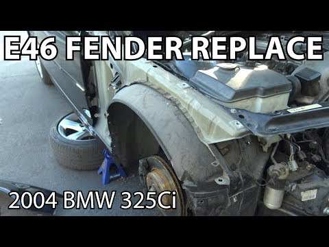 BMW E46 How To Replace a Fender