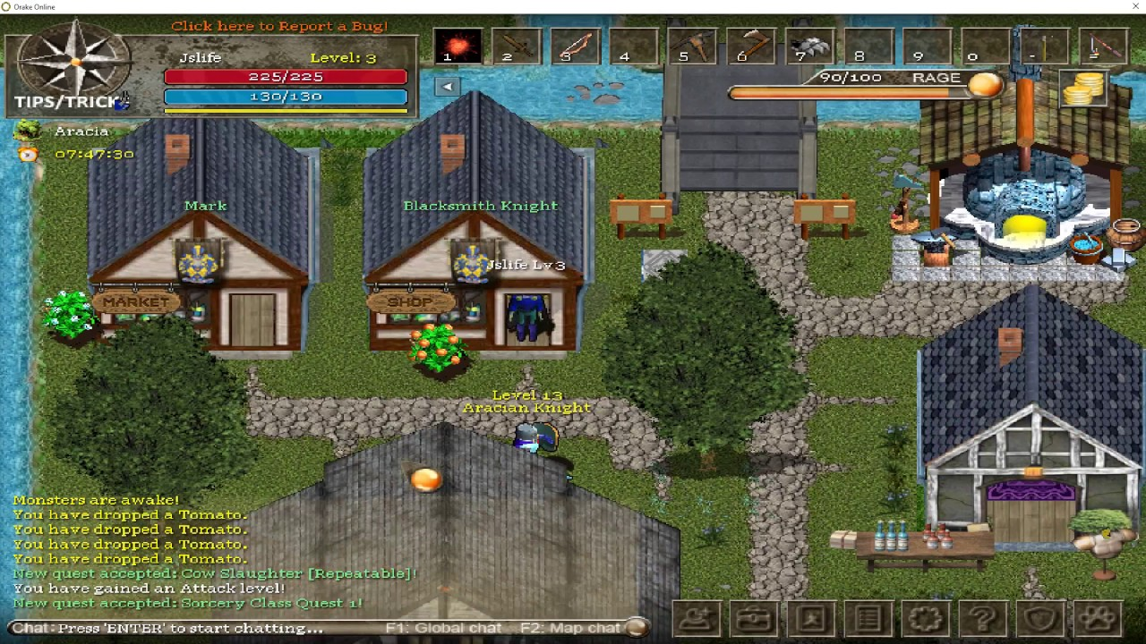 Orake 2D MMORPG: Another look gameplay (2017)
