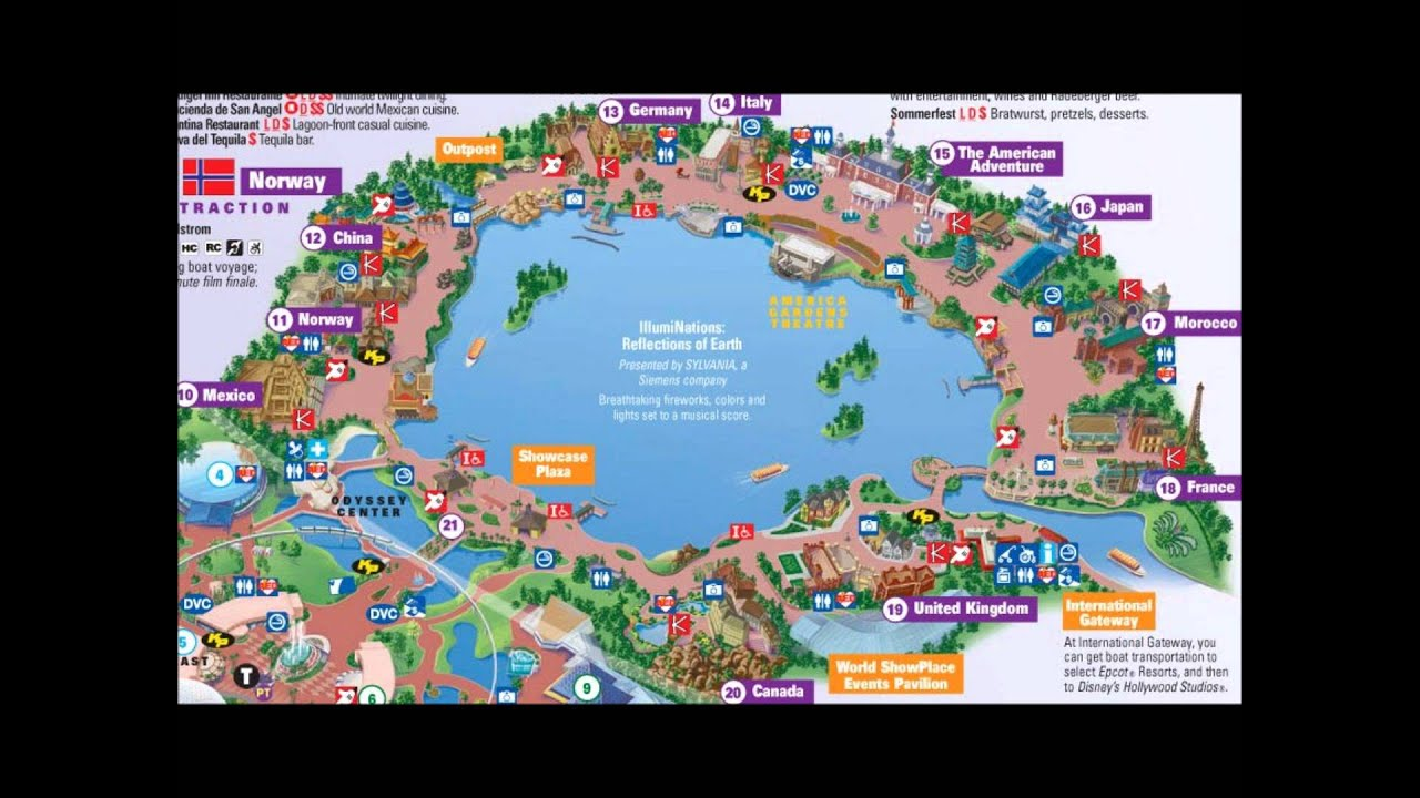 Lovely EPCOT`s World Showcase Interactive Map   YouTube