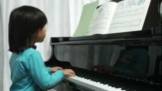 コトコト5歳のピアノの練習 「アキ ピアノ教本2」 p.14「ジングルベル」...