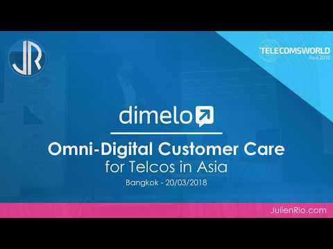 Conference Telecoms World Asia with Dimelo