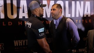 BEAST!! ANTHONY JOSHUA v ERIC MOLINA - OFFICIAL HEAD TO HEAD WITH COMMENTARY FROM SHANNON BRIGGS