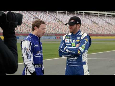 Dale Earnhardt Jr. and Mark Zuckerberg Take Laps at Charlotte
