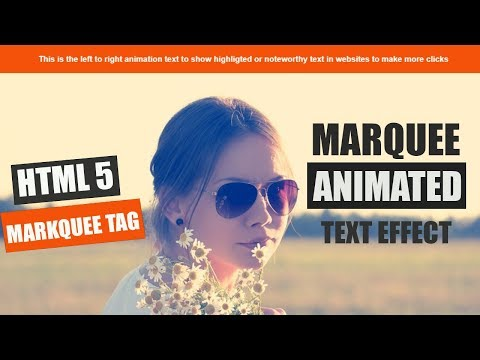Marquee Animating text effect using html 5 and css 3 only - YouTube