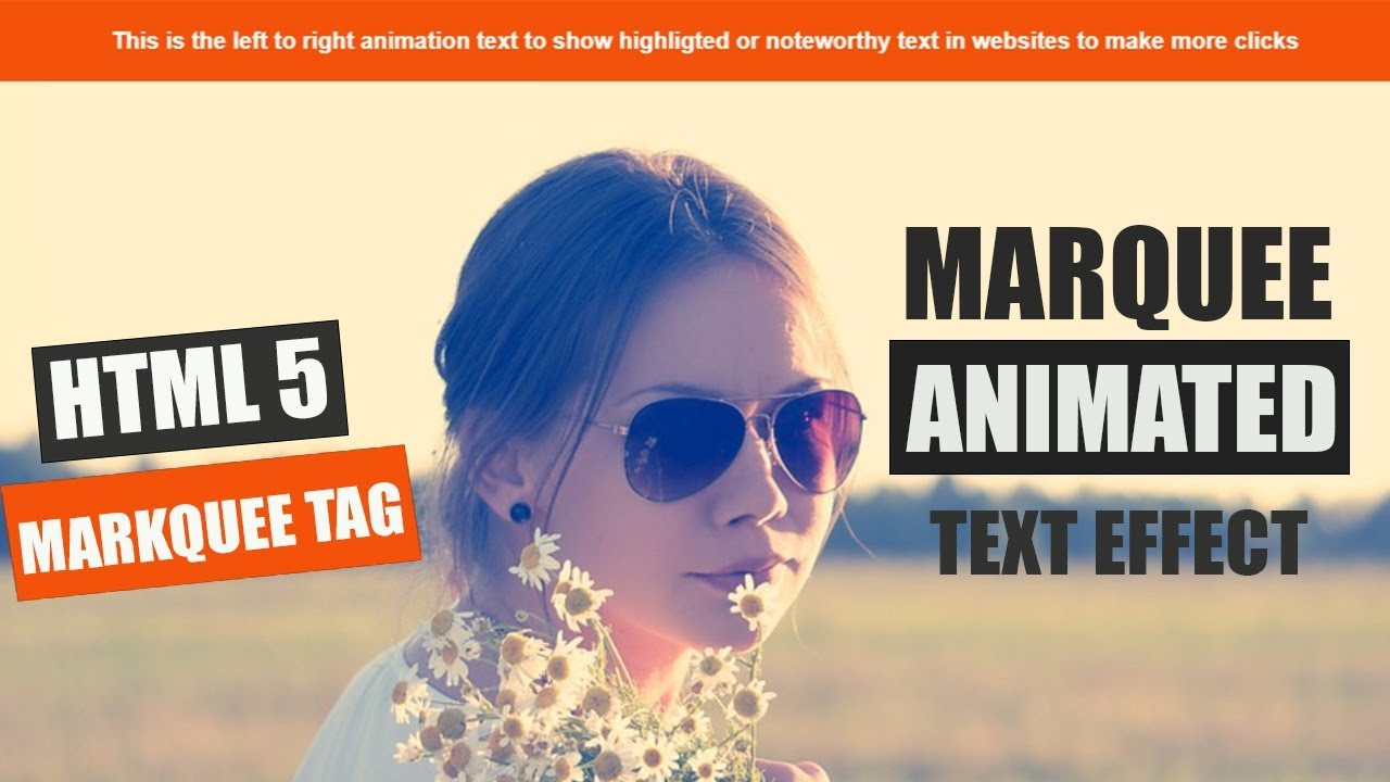 Marquee Animating text effect using html 5 and css 3 only