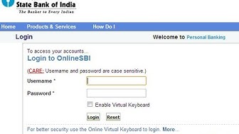 IN-How to Login to Online Banking of State Bank