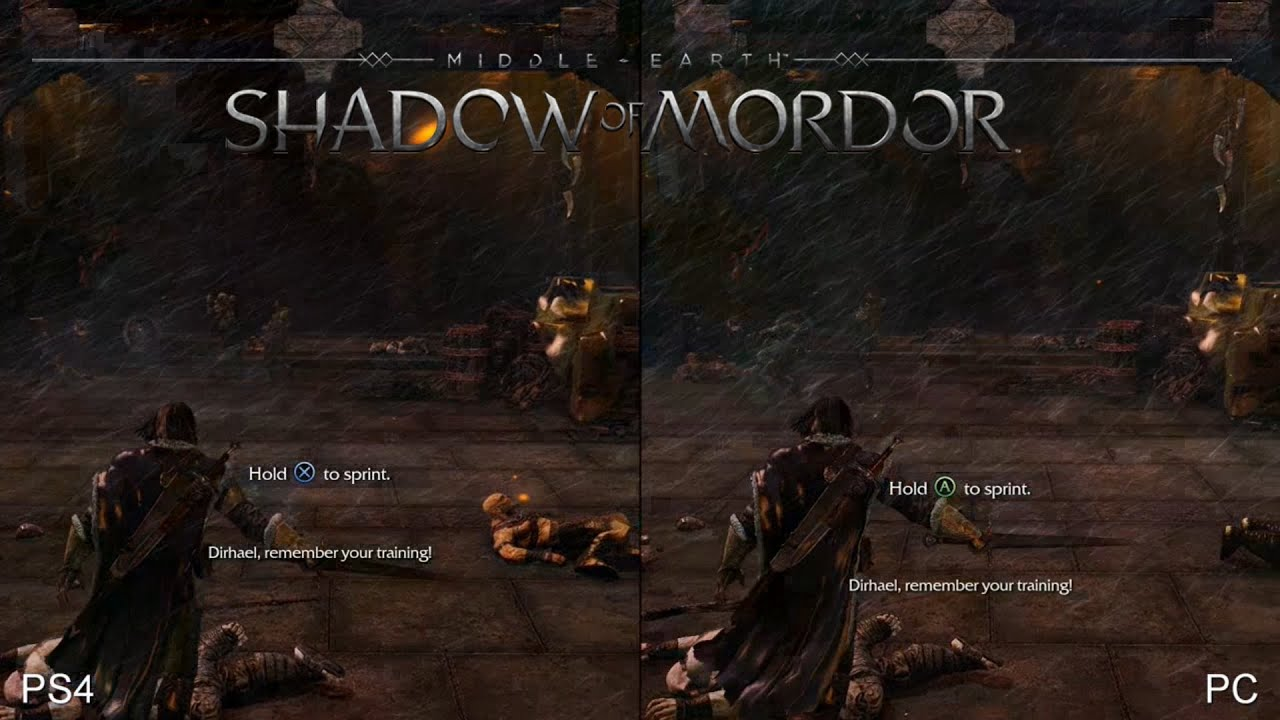 Shadow of Mordor: PS4 vs PC (Ultra Textures/Settings ...