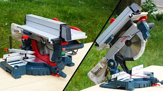 Miter Table Combination Saw BOSCH GTM 12 JL   Unboxing and Test