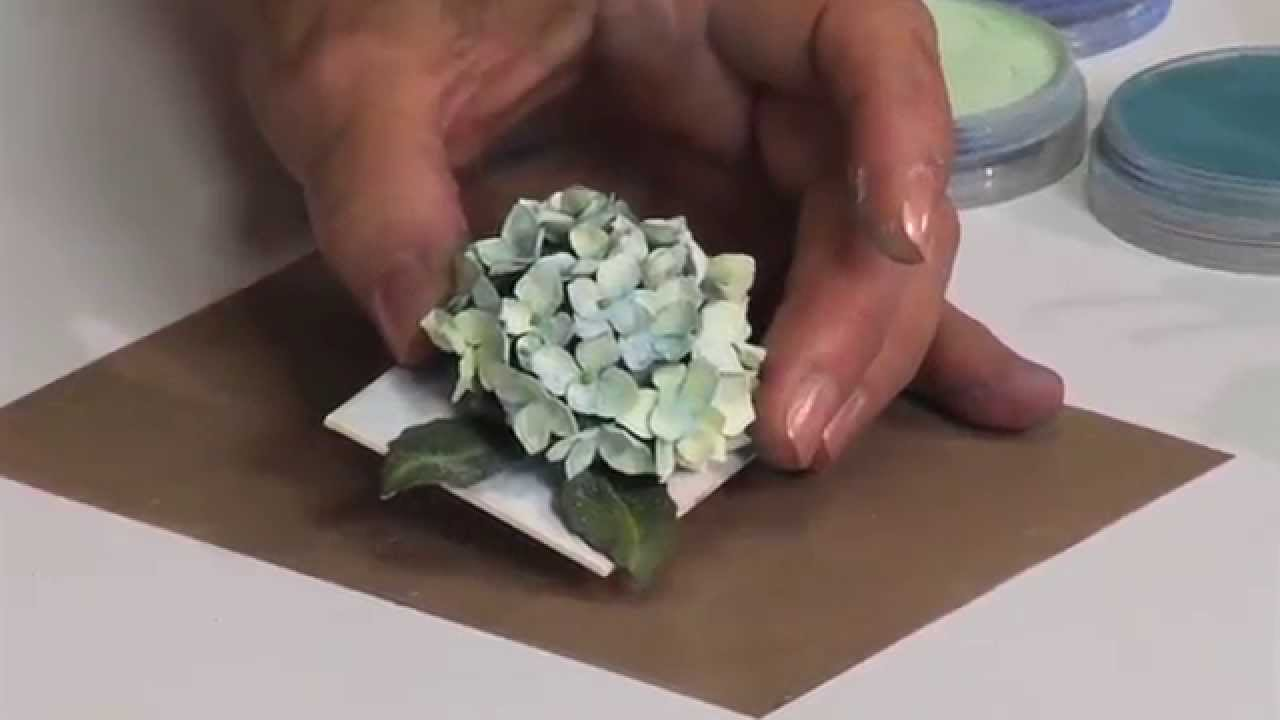 How To Use Sizzix Hydrangea Flower Die Youtube