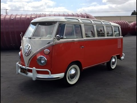 1963 VW Bus 23 Window Rag Top Drive Around - YouTube