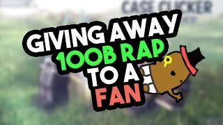 [Roblox] Case Clicker: GIVING AWAY 100.000.000.000 TO A FAN!!! (100B GIVEAWAY)