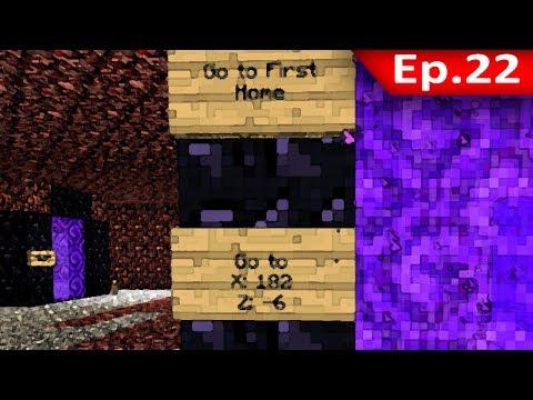 Tackle⁴⁸²⁶ Minecraft (1.7.9) #22 - ทำทางลัดด้วยประตู Nether