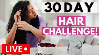 August 30 Day Hair Challenge Starts NOW! | LIVE with Khadija!