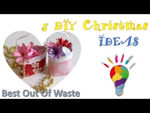 diy christmas crafts | best out of waste ideas | 5 minute craft ideas | christmas decor | home decor