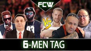 Cappuccino, Gynozz & Diprè VS Youtubo, Merluzzo & Franchini - FCW Wrestling