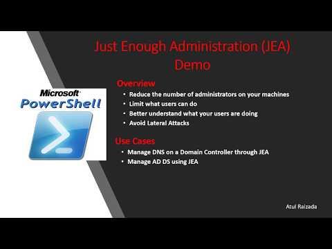 Just Enough Administration (JEA) Demo