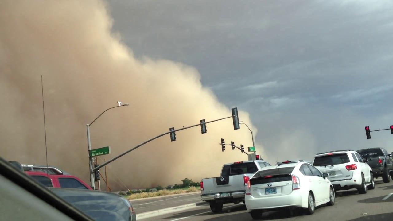 Driving Through Arizona Dust Storm Haboob July 21 2012