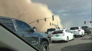 Driving Through Arizona Dust Storm (Haboob)- July 21, 2012