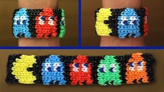 Rainbow Loom Nederlands - Pacman Armband || Loom bands, rainbow loom, tutorial, how to