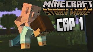 Minecraft Story Mode Ep1 | Español | #1 Comienza la Aventura - Adoro al Cerdito!!! | Stratusferico