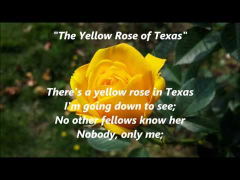 The Yellow Rose of Texas songwords lyrics best top popular favorite trending sing along song songs