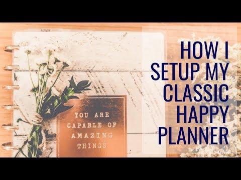 PLANNER SETUP | My Classic Happy Planner Setup