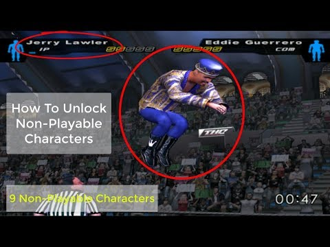 How To Unlock Non-Playable Characters In WWE SD! HCTP 2003