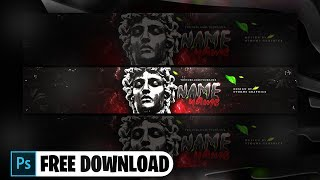 YouTube Banner Template [ + PHOTOSHOP FREE DOWNLOAD ]